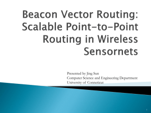 Beacon Vector Routing: Scalable Point-to