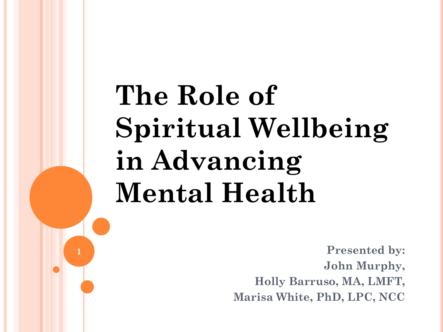 spiritual well being and mental health