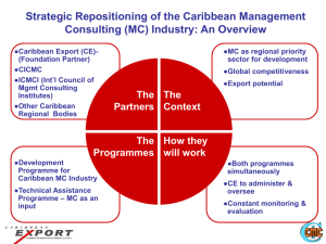 Strategic Repositioning of the Caribbean Management Consulting