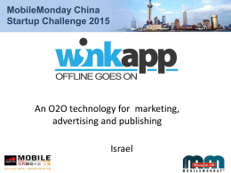 WinkApp - Mobile Monday Shanghai