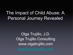 The Impact of Child Abuse: A Personal Perspective