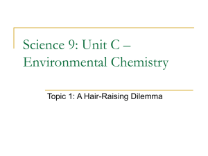 Science 9: Unit C – Environmental Chemistry