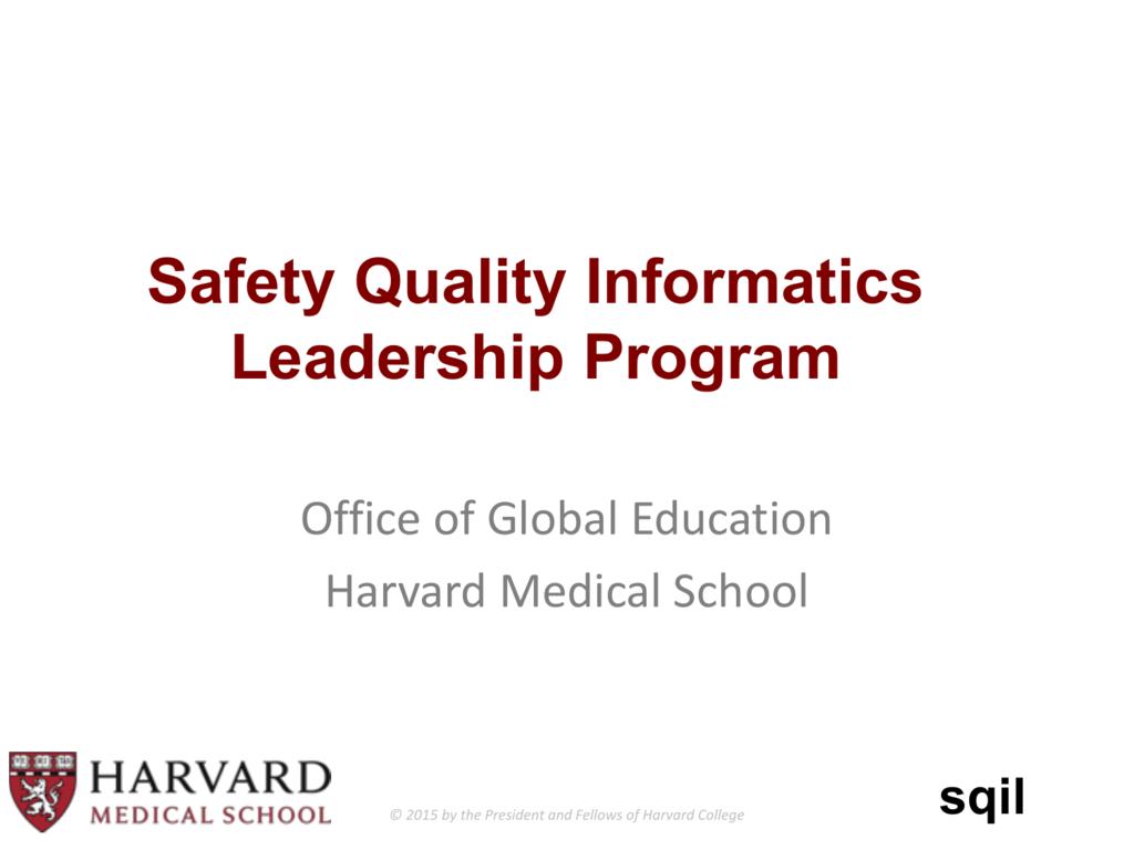 Powerpoint Presentation Harvard Medical School
