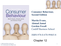 Consumer Misbehaviour and Marketing Activities