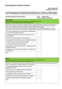 Stress Management Checklist for Managers