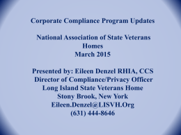 Downloads - National Association of State Veterans Homes
