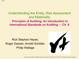 ch09 principlesofauditing ed3 Home essays smieliauskas6e ppt ch09 smieliauskas6e ppt ch09 topics: internal control , auditing , audit pages: 61 (2740 words) published: march 29, 2015.