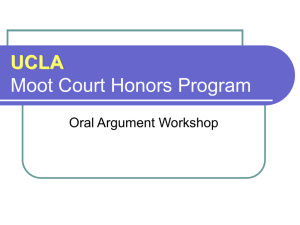 UCLA Moot Court Honors Program
