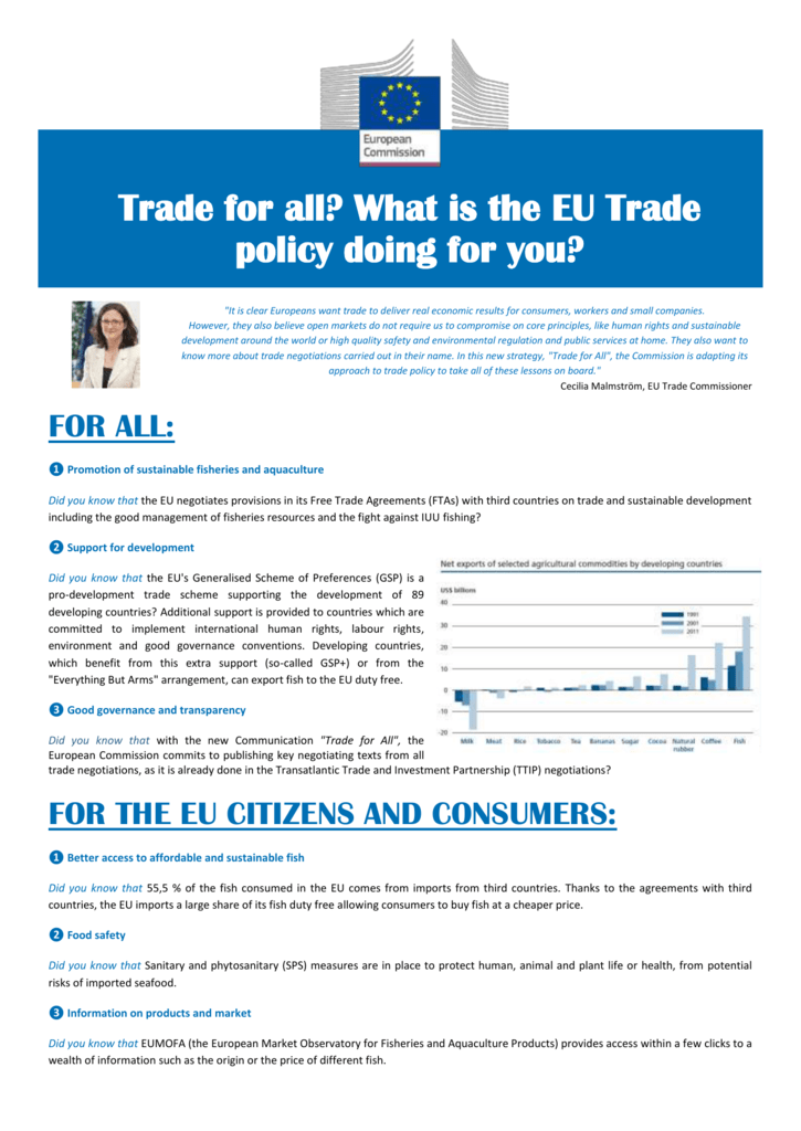 What is the EU Trade policy doing for you?