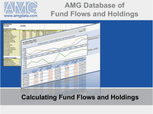 AMG Database Features - US Fund Flows Data Services