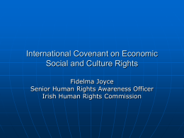 International Covenant on Economic Social and Culture Rights