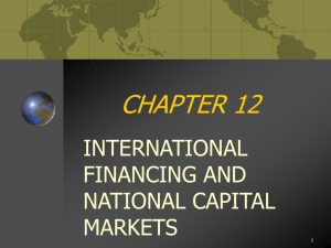 international financing and international financial markets