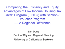 Tax Credits vs. Section 8 - Berkeley Program on Housing and Urban