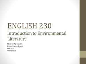 ENGLISH 230–Intro day - UO Blogs