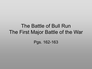 Battle of Bull Run Powerpoint
