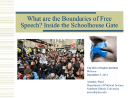 What are the Boundaries of Free Speech?