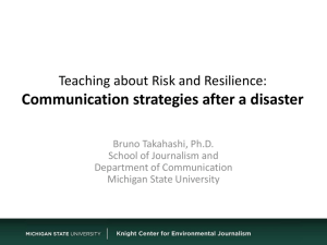 Communication strategies after a disaster