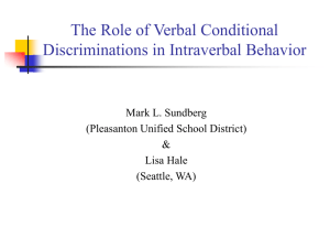 What is Intraverbal Behavior?