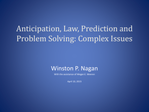 Law Prediction and Problem Solving by Winston Nagan