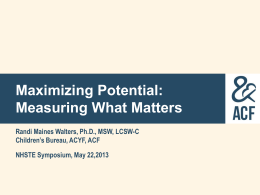 Maximizing Potential: Measuring What Matters