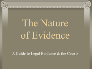 The Nature of Evidence Powerpoint