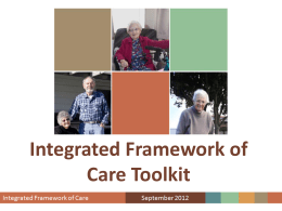 Integrated Framework of Care