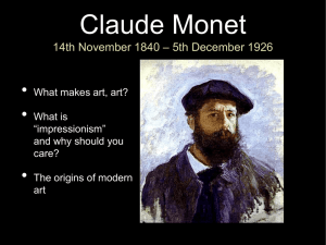 Claude Monet 14th November 1840 – 5th December 1926