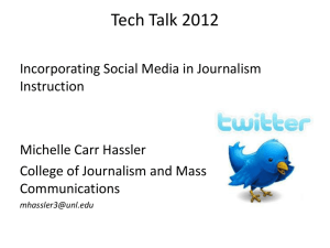Incorporating Social Media in Journalism Instruction