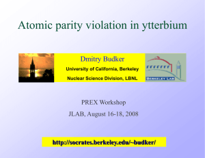 Atomic parity violation in Yb: experimental results and prospects of a