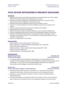 full stack developer & project manager