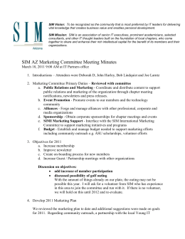 SIM Vision: To be recognized as the community that is most