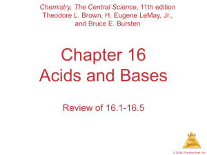 Acids and Bases - AP Chemistry with dr hart