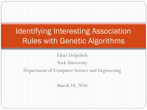 Identifying Interesting Association Rules with