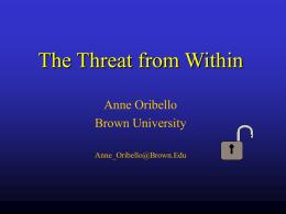 The Threat from Within