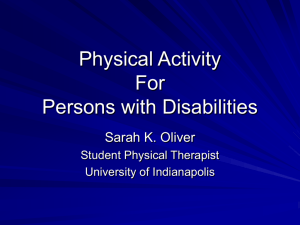 Physical Activity For Adults with Disabilities