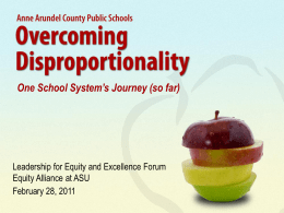 Overcoming Disproportionality: One
