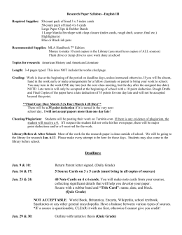Research paper and syllabus