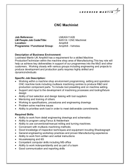 CNC Machinist - Lockheed Martin