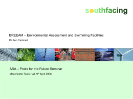 Dr Ben Cartmell - BREEAM – Environmental