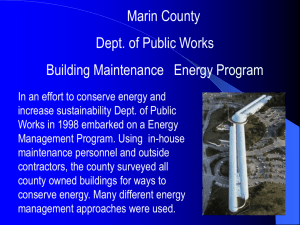 DPW Building Maintence Energy Program (