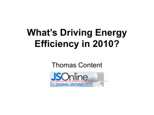 What´s Driving Energy Efficiency in 2010