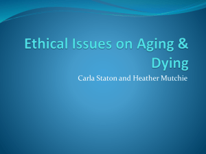 Ethical Issues on Aging & Dying Student