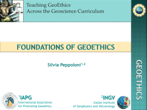 The Foundations of Geoethics