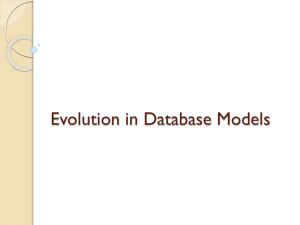 Evolution in Database Models