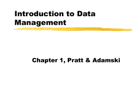 Basics of data management