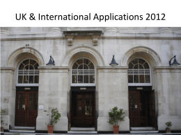 UK and International Application