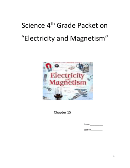 Electricity and Magnetism packet