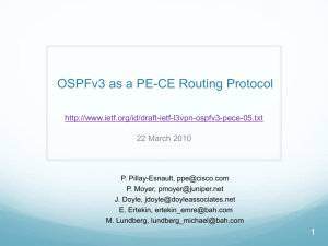 OSPFv3 as a PE-CE Routing Protocol