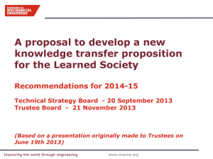 Knowledge Transfer Proposal