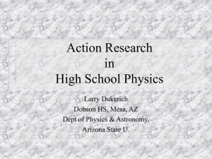Action Research in High School Physics